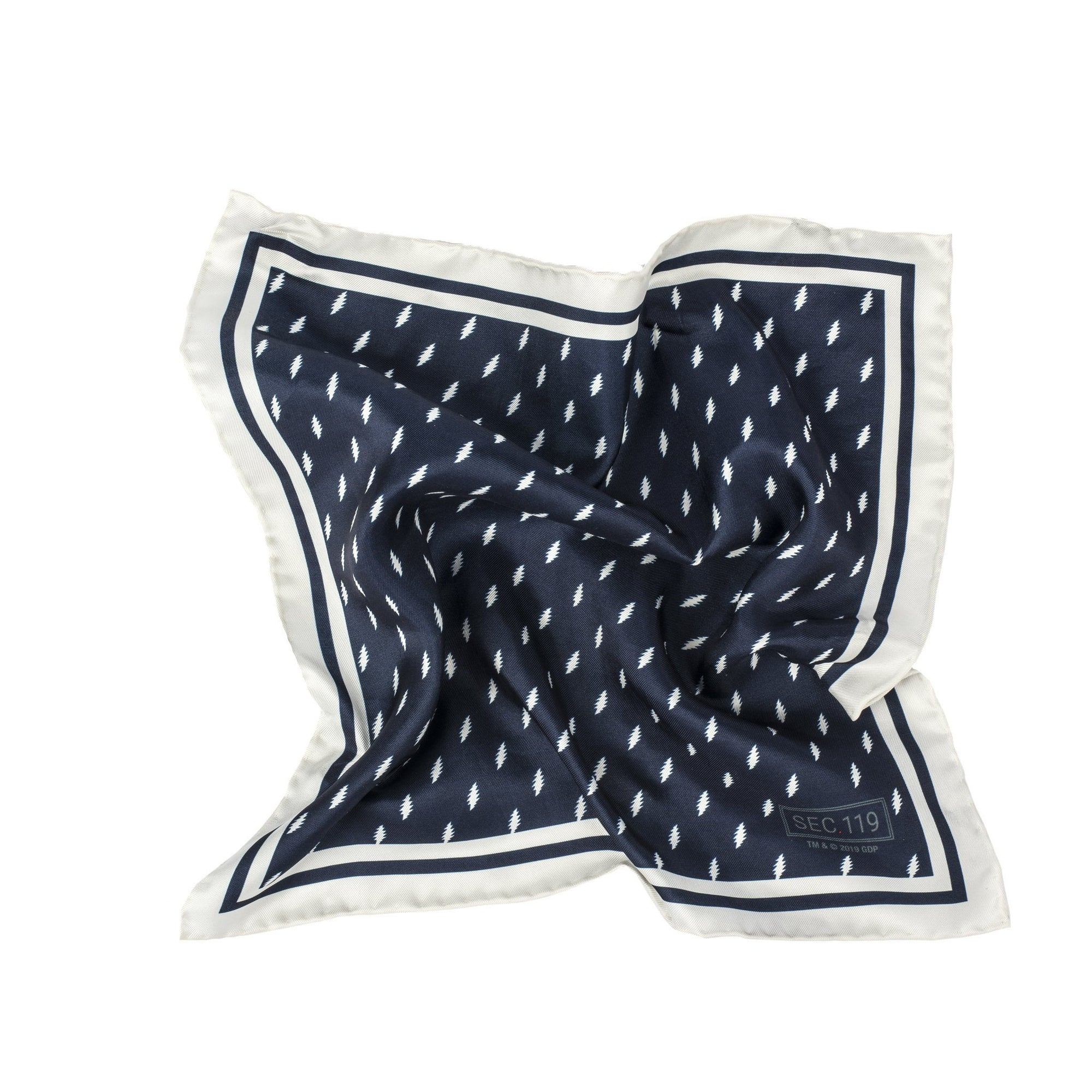 Grateful Dead Navy 13 Point Bolt Pocket Square - Section 119