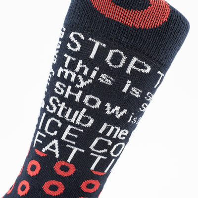 Quote Donut Socks - Section 119