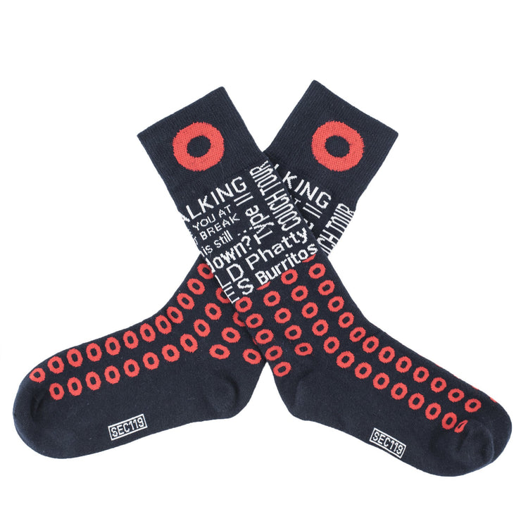 Sec.119 Donut Quote Socks