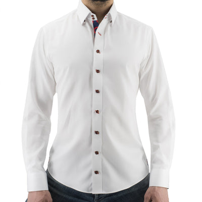 White Donut Button-Down Shirt Section 119