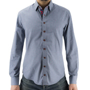 Sec.119 Blue Chambray Donut Hole Button-Down