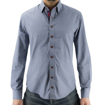 Blue Chambray Donut Hole Button-Down