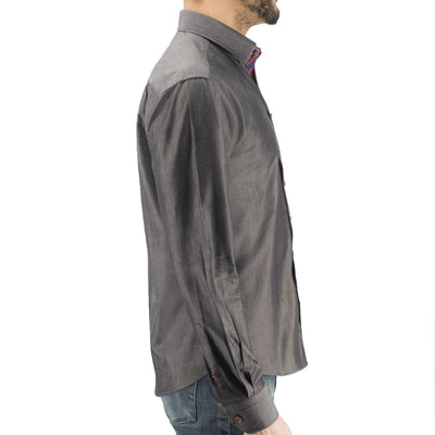 Charcoal Chambray Donut Button-Down - Section 119