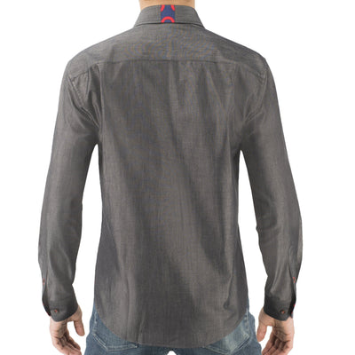 Charcoal Chambray Donut Button-Down Shirt Section 119