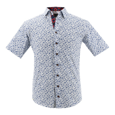 Floral Short Sleeve Donut Button-Down Shirt Section 119