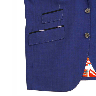 Grateful Dead Blue Sharkskin Bolt Sport Coat - Section 119