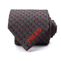 Grey Miles Davis Trumpet Tie - Section 119