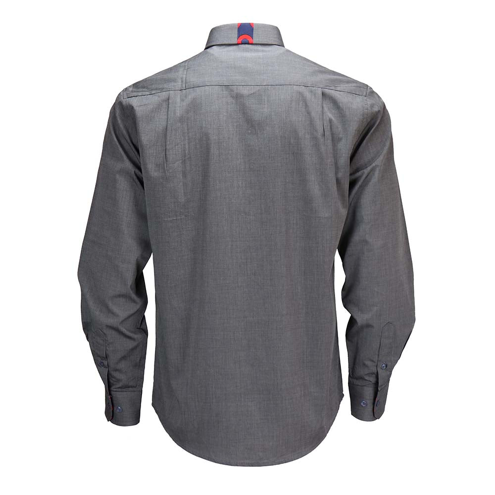 Charcoal Chambray Donut Long Sleeve Shirt - Section 119