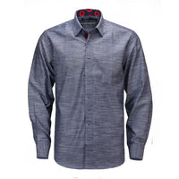 Blue Chambray Donut Long Sleeve Shirt - Section 119