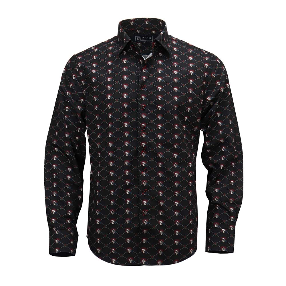 Grateful Dead Black Long-Sleeve Button-Down - Section 119