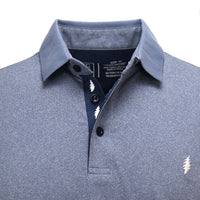 Grateful Dead Dry Fit Blue Polo - Section 119