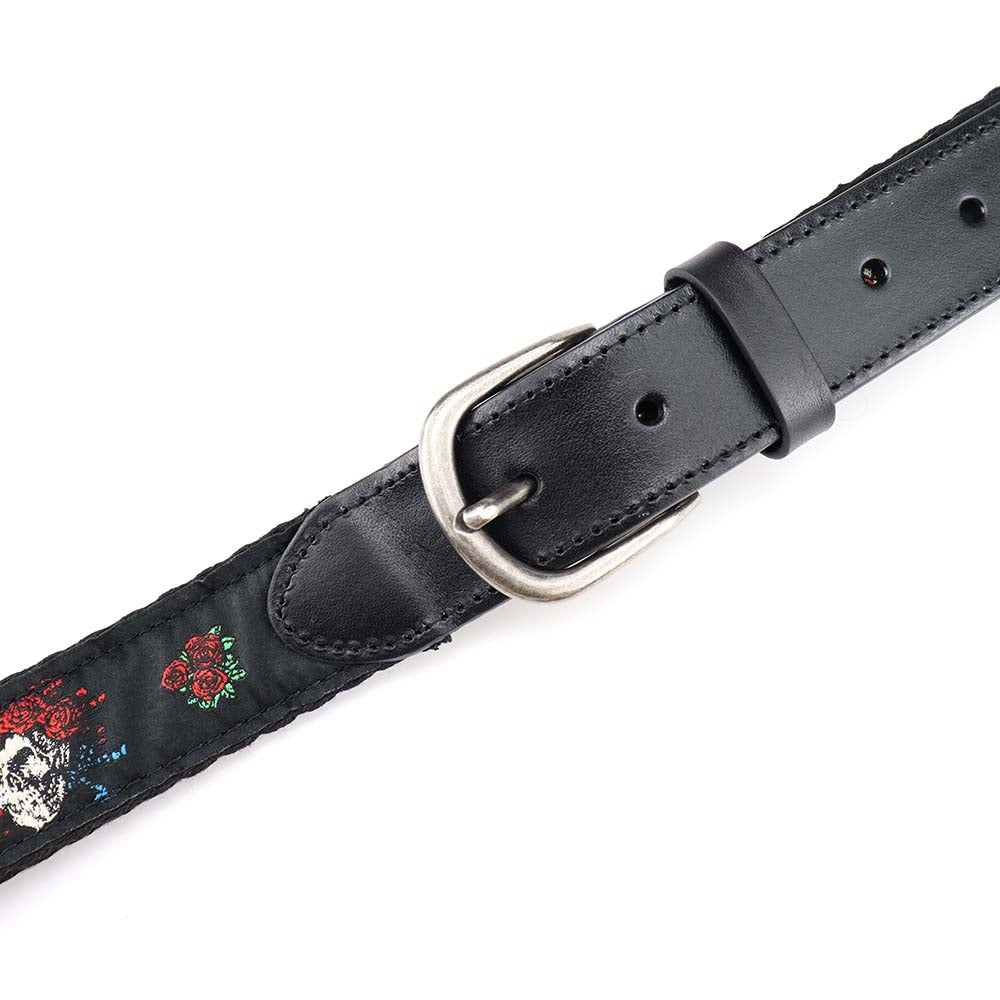 Grateful Dead Black Bertha Skull and Roses Belt - Section 119