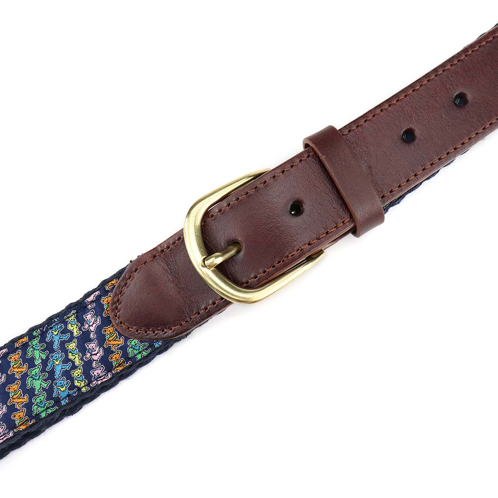Grateful Dead Navy Dancing Bears Belt - Section 119