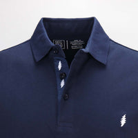 Grateful Dead Pique Navy Polo - Section 119