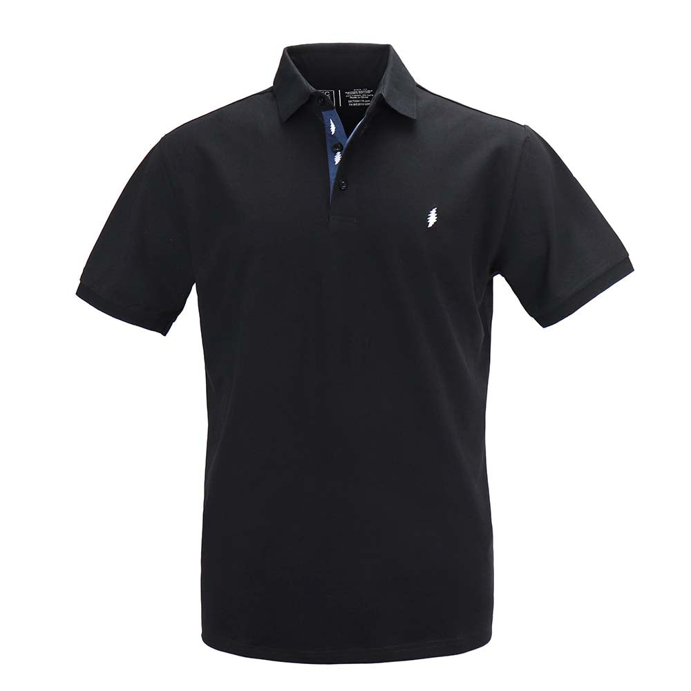 Grateful Dead Pique Black Polo - Section 119