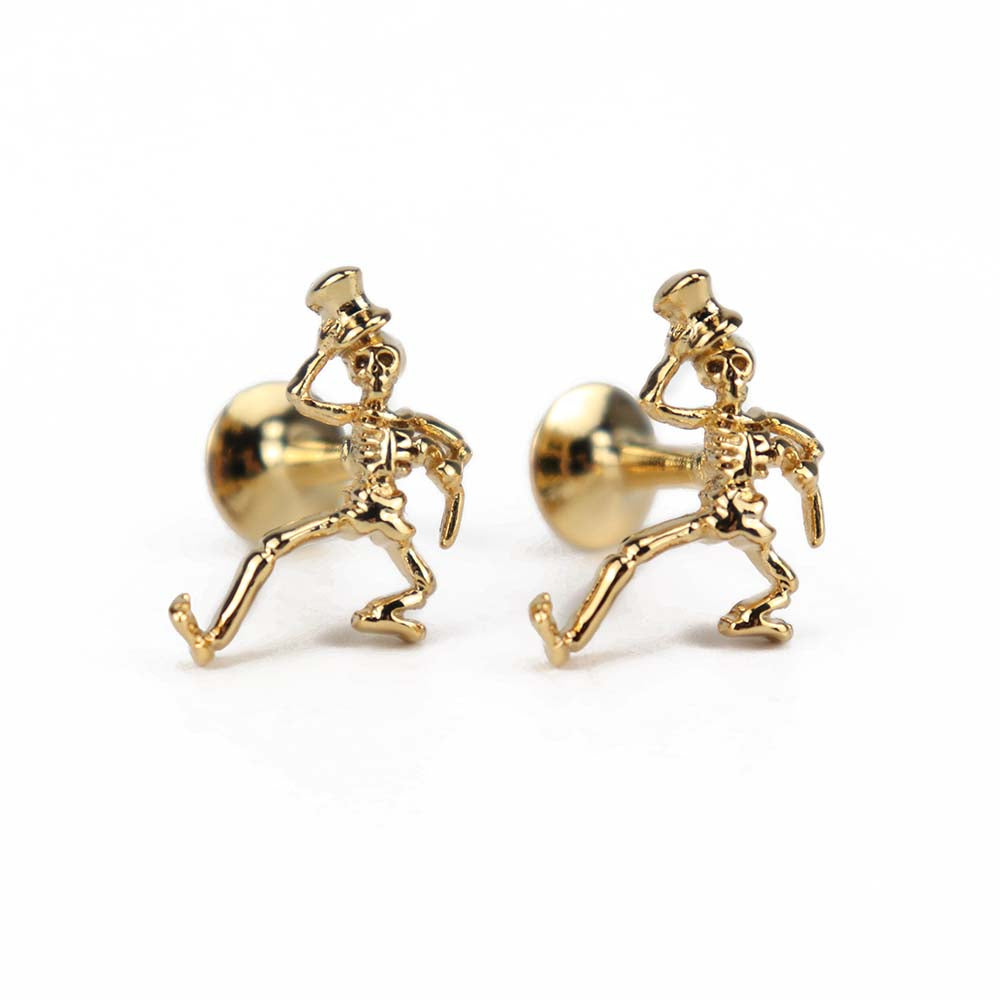 Gold Dancing Skeleton Cufflinks - Section 119