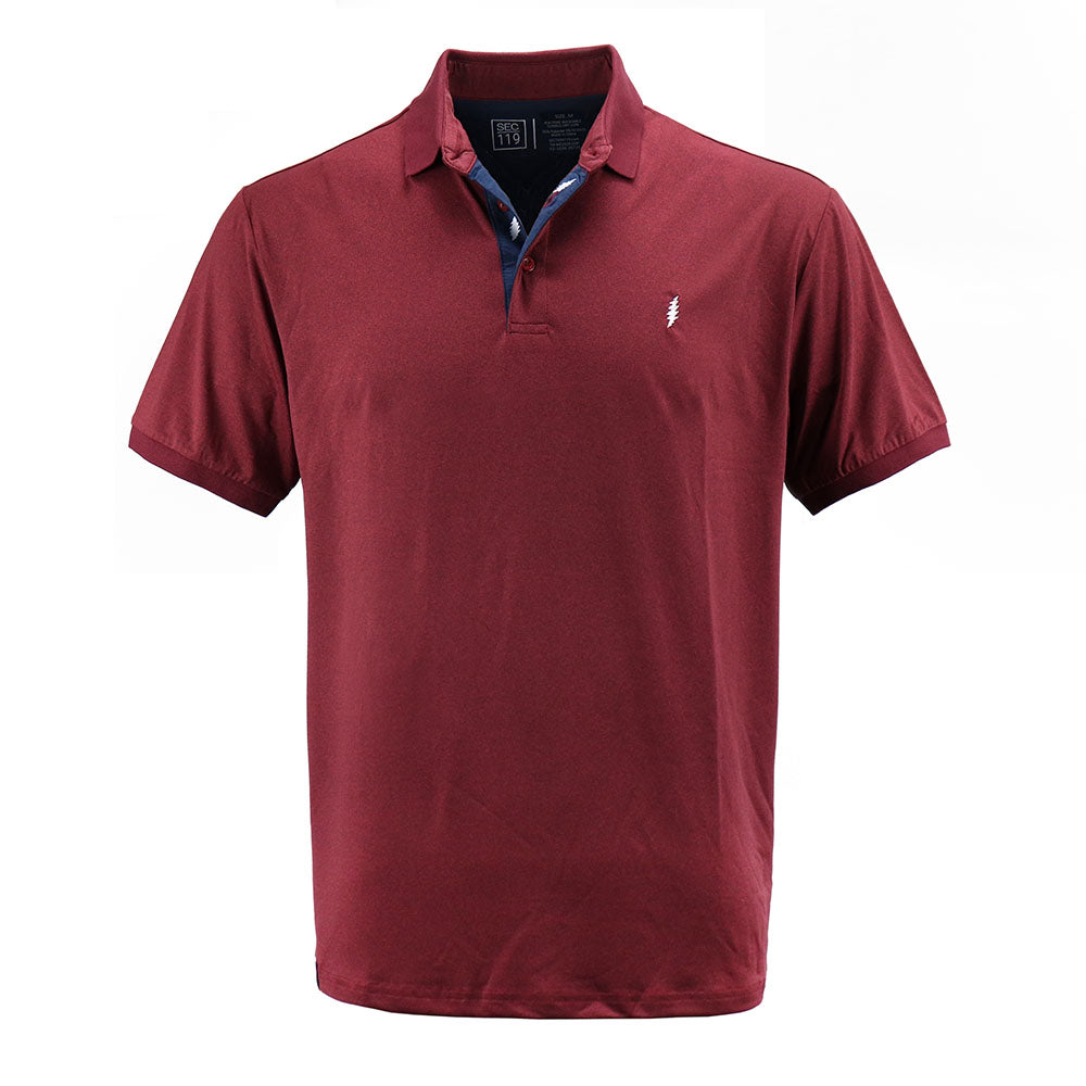 Grateful Dead Dry Fit Dark Red Polo - Section 119