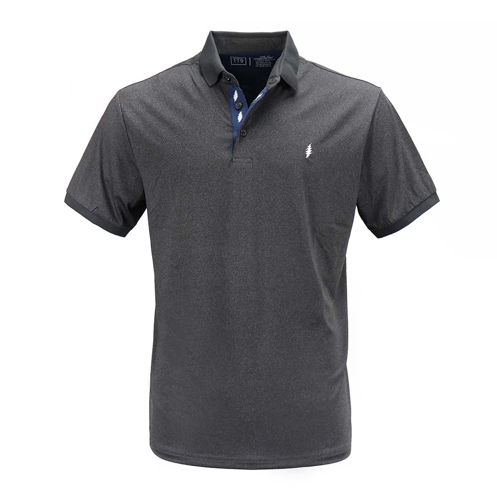 Grateful Dead Dry Fit Charcoal Polo - Section 119