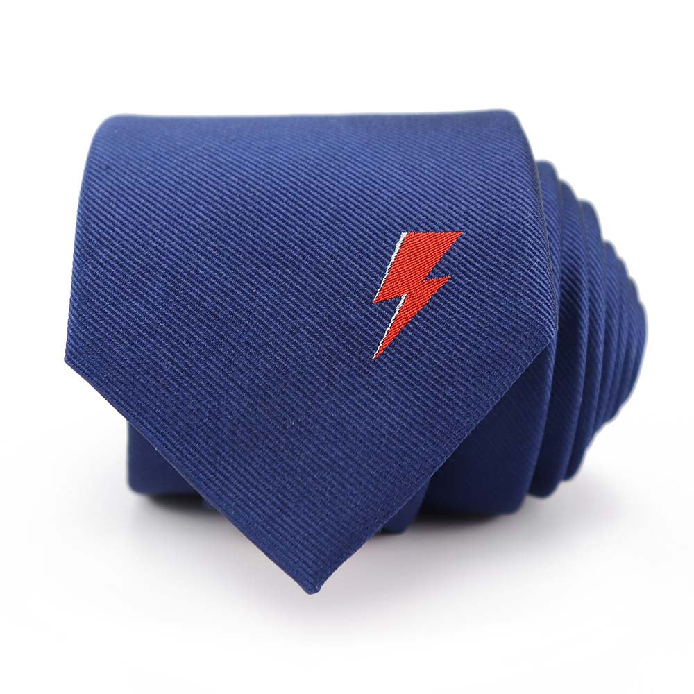 David Bowie Navy Single Bolt Tie - Section 119