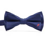 David Bowie Navy Single Bolt Bow Tie (Pre-Tied) - Section 119