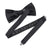 David Bowie Single Bolt Black Bow Tie (Pre-Tied) - Section 119