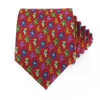 Red Dancing Bears Tie - Section 119