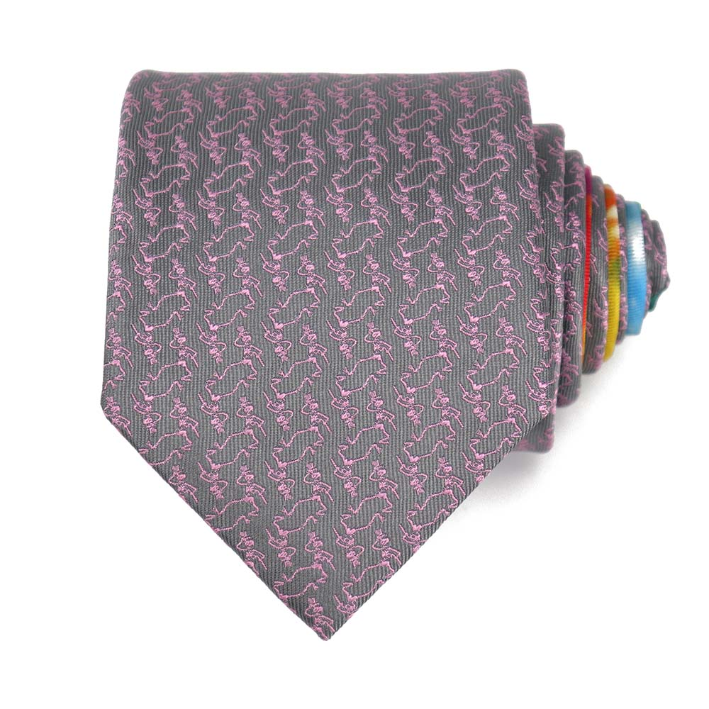 Grey Dancing Skeletons Tie - Section 119