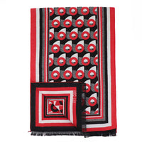 Red & Black Donut Winter Scarf - Section 119