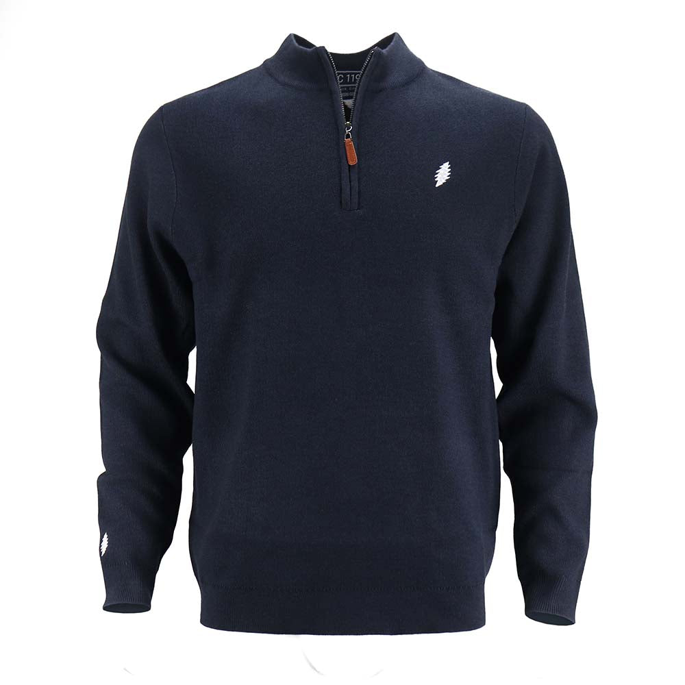 Grateful Dead Bolt Dark Navy Sweater Quarter Zip - Section 119