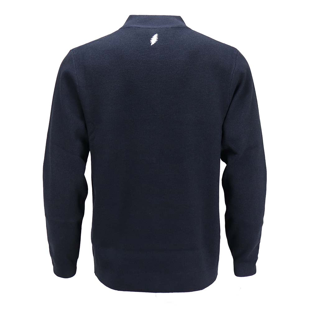 Grateful Dead Bolt Dark Navy Sweater Quarter-Zip - Section 119