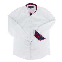 White Chambray Donut Long Sleeve Shirt - Section 119
