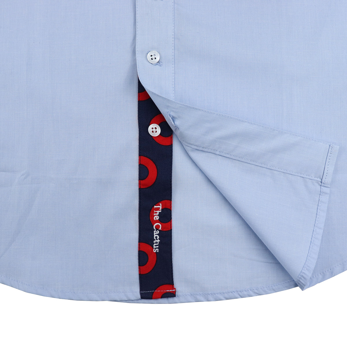 Light Blue Chambray Donut Long Sleeve Shirt - Section 119