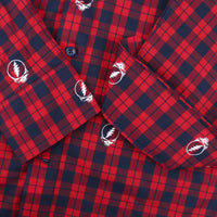 Grateful Dead Steal Your Face Plaid Button-Down - Section 119
