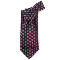 Navy Woven All Over Donut Tie - Section 119