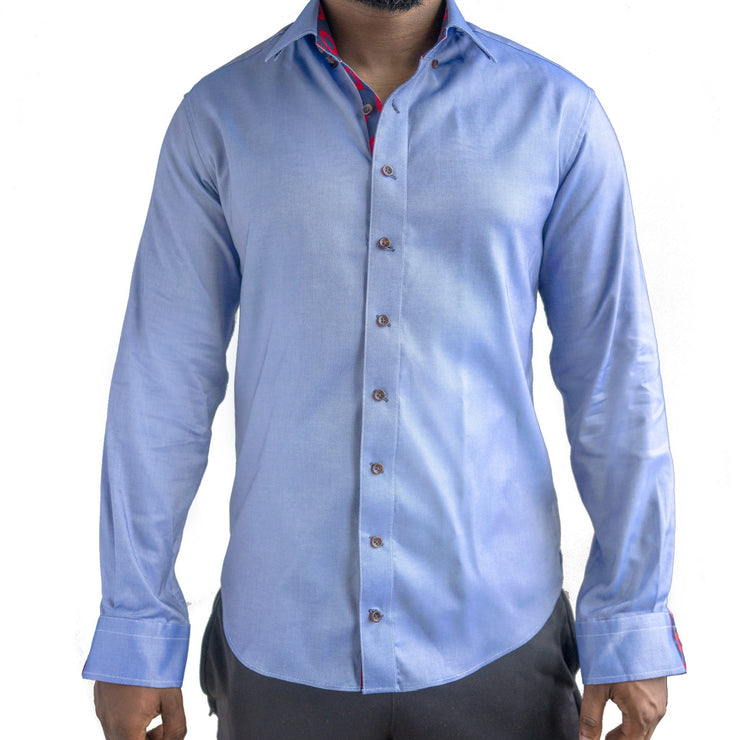 Blue Oxford Donut Button-Down Shirt Section 119 M