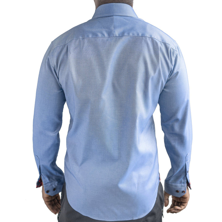 Blue Oxford Donut Button-Down Shirt Section 119
