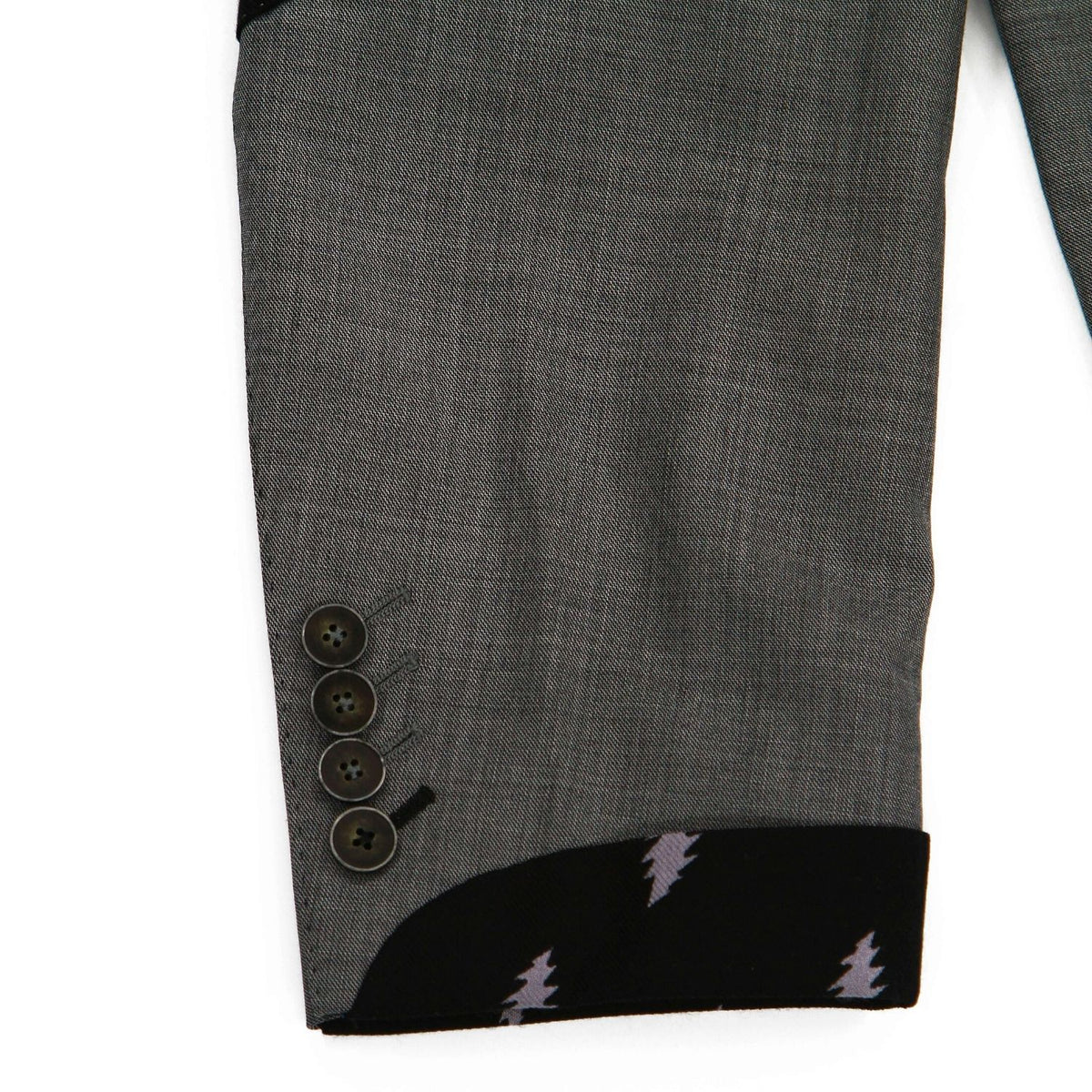 Grateful Dead Medium Grey Sharkskin Sport Coat - Section 119