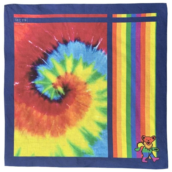 Grateful Dead Rainbow Bear Bandana - Section 119