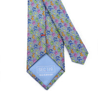 Grateful Dead Blue All Over Dancing Bear Tie - Section 119