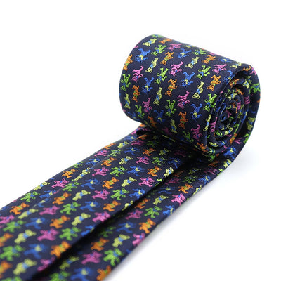Grateful Dead Navy All Over Dancing Bear Tie - Section 119
