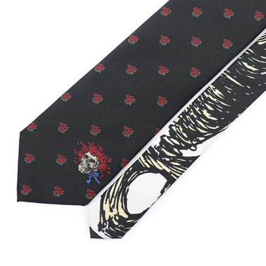 Grateful Dead Black Bertha Skull & Roses Tie - Section 119