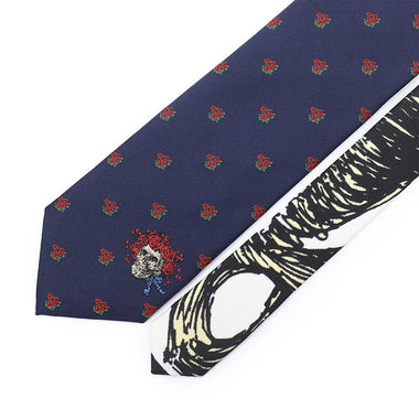 Navy Bertha Skull and Roses Tie - Section 119