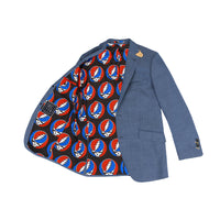 Grateful Dead Blue Sharkskin Sport Coat - Section 119