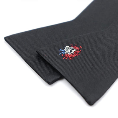 Grateful Dead Black Skull & Roses Bow Tie (self-tied) - Section 119