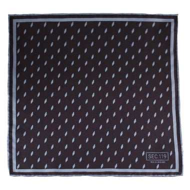 Grateful Dead Black 13 Point Bolt Pocket Square - Section 119