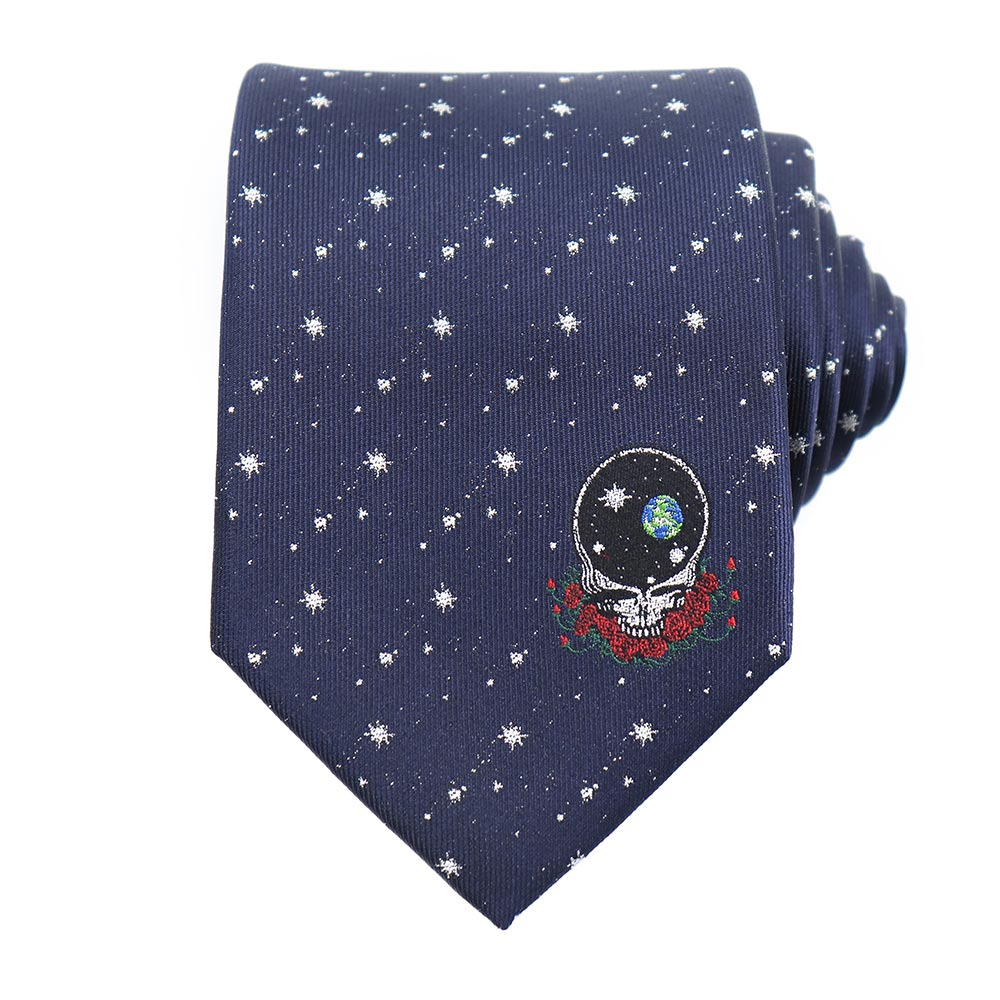 Grateful Dead Navy Space Your Face Tie - Section 119