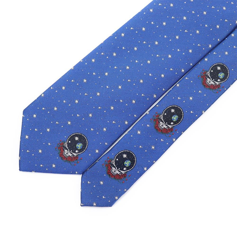 Blue Grateful Dead Space Your Face Tie by Section 119