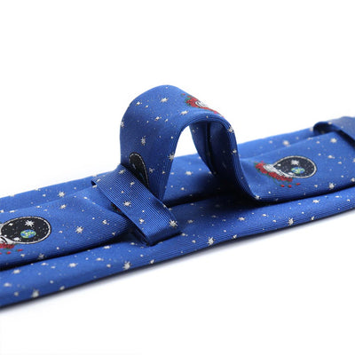 Double Loop Blue Grateful Dead Space Your Face Tie by Section 119