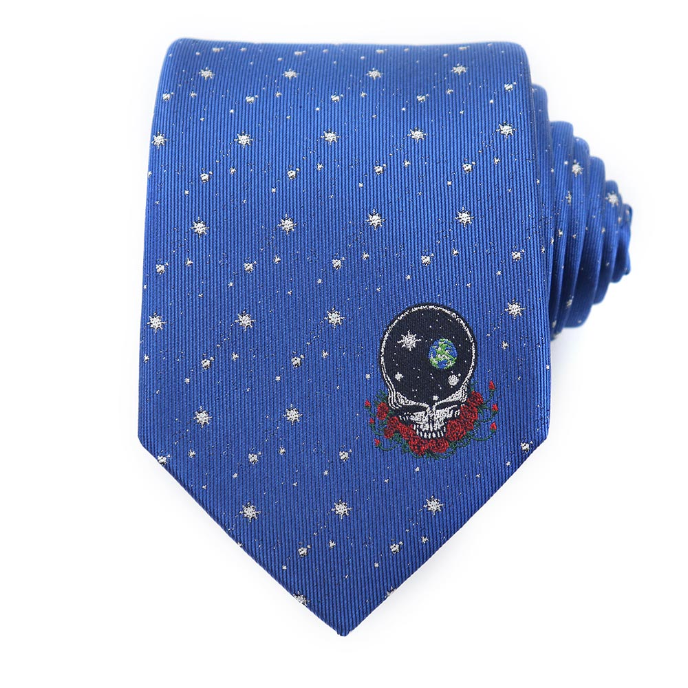 Blue Grateful Dead Space Your Face Tie by Sec.119