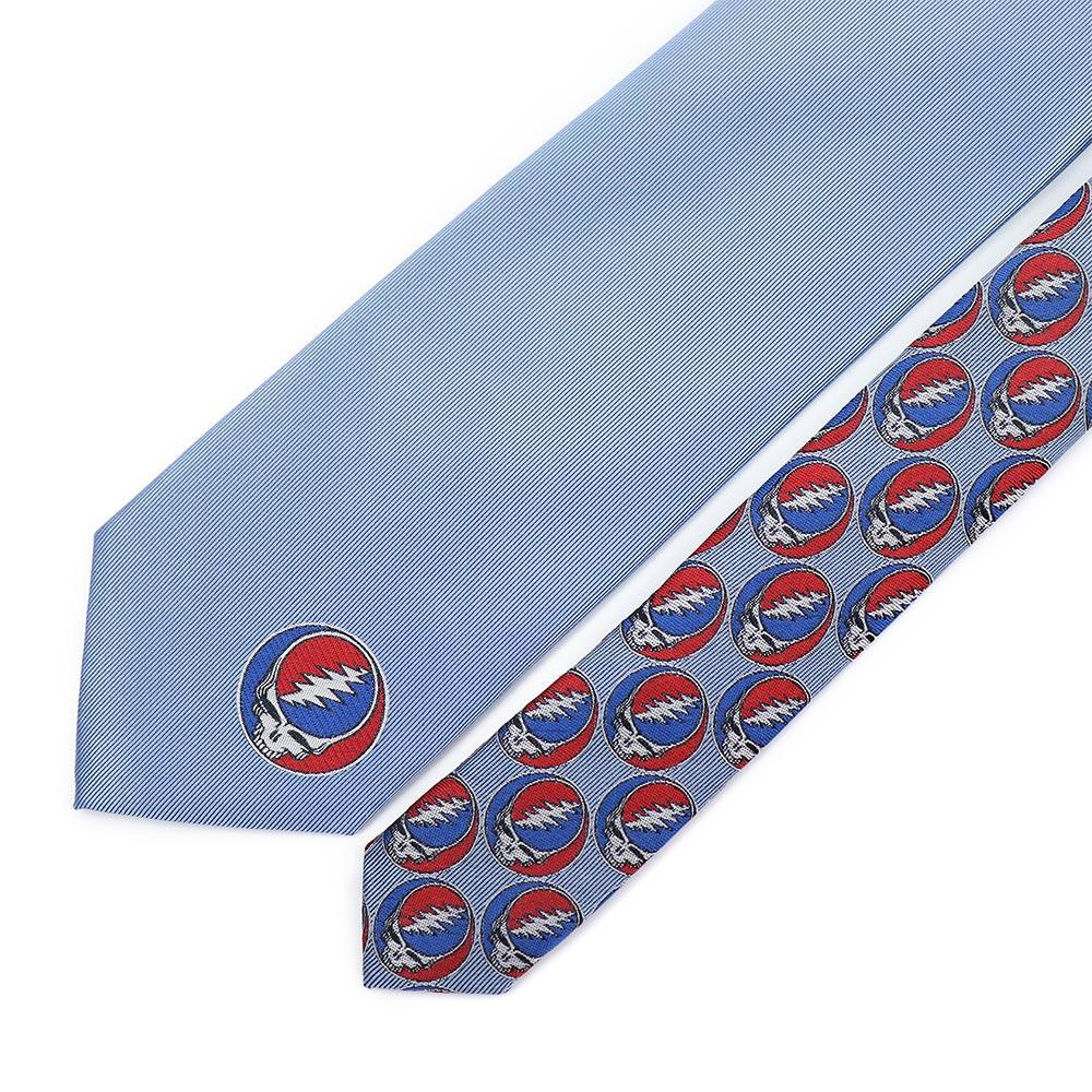 Grateful Dead Blue Steal Your Face Tie - Section 119